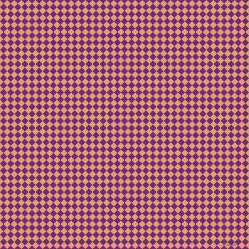 45/135 degree angle diagonal checkered chequered squares checker pattern checkers background, 10 pixel squares size, , Seance and Dark Salmon checkers chequered checkered squares seamless tileable