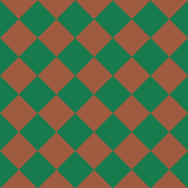45/135 degree angle diagonal checkered chequered squares checker pattern checkers background, 90 pixel square size, , Sepia and Salem checkers chequered checkered squares seamless tileable