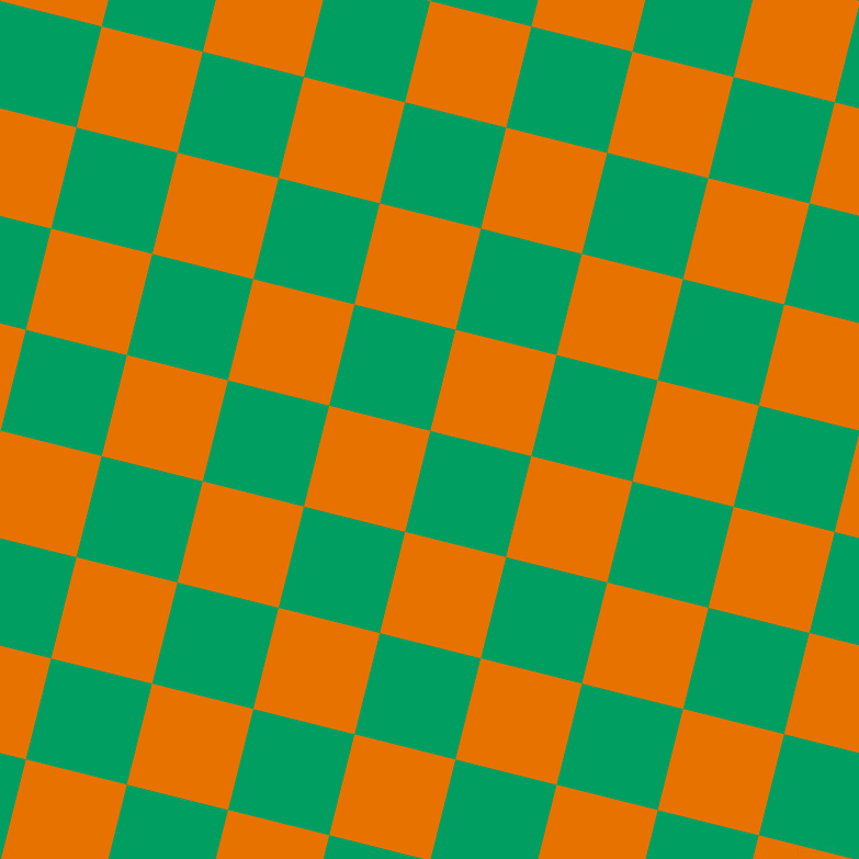 76/166 degree angle diagonal checkered chequered squares checker pattern checkers background, 95 pixel squares size, , Shamrock Green and Mango Tango checkers chequered checkered squares seamless tileable