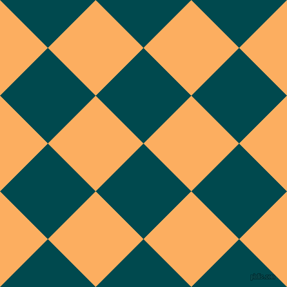 45/135 degree angle diagonal checkered chequered squares checker pattern checkers background, 98 pixel squares size, , Sherpa Blue and Rajah checkers chequered checkered squares seamless tileable