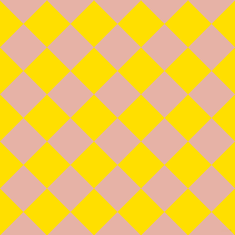 45/135 degree angle diagonal checkered chequered squares checker pattern checkers background, 115 pixel square size, , Shilo and Golden Yellow checkers chequered checkered squares seamless tileable