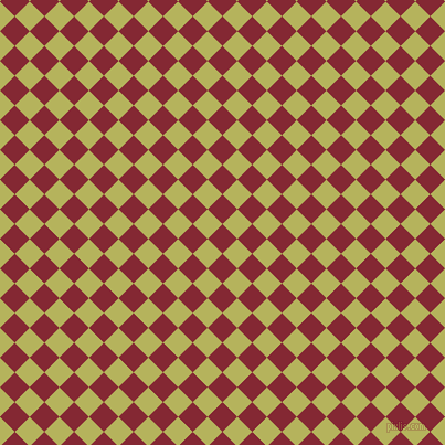 45/135 degree angle diagonal checkered chequered squares checker pattern checkers background, 19 pixel squares size, , Shiraz and Olive Green checkers chequered checkered squares seamless tileable