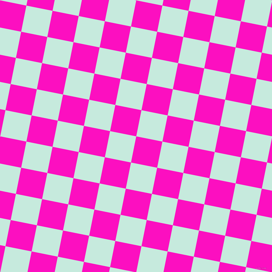 79/169 degree angle diagonal checkered chequered squares checker pattern checkers background, 91 pixel square size, , Shocking Pink and Mint Tulip checkers chequered checkered squares seamless tileable
