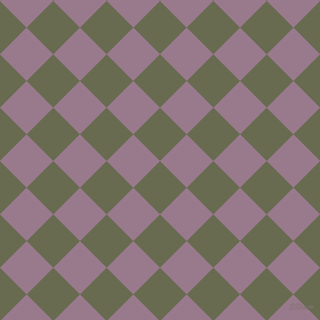 45/135 degree angle diagonal checkered chequered squares checker pattern checkers background, 54 pixel square size, , Siam and Mountbatten Pink checkers chequered checkered squares seamless tileable