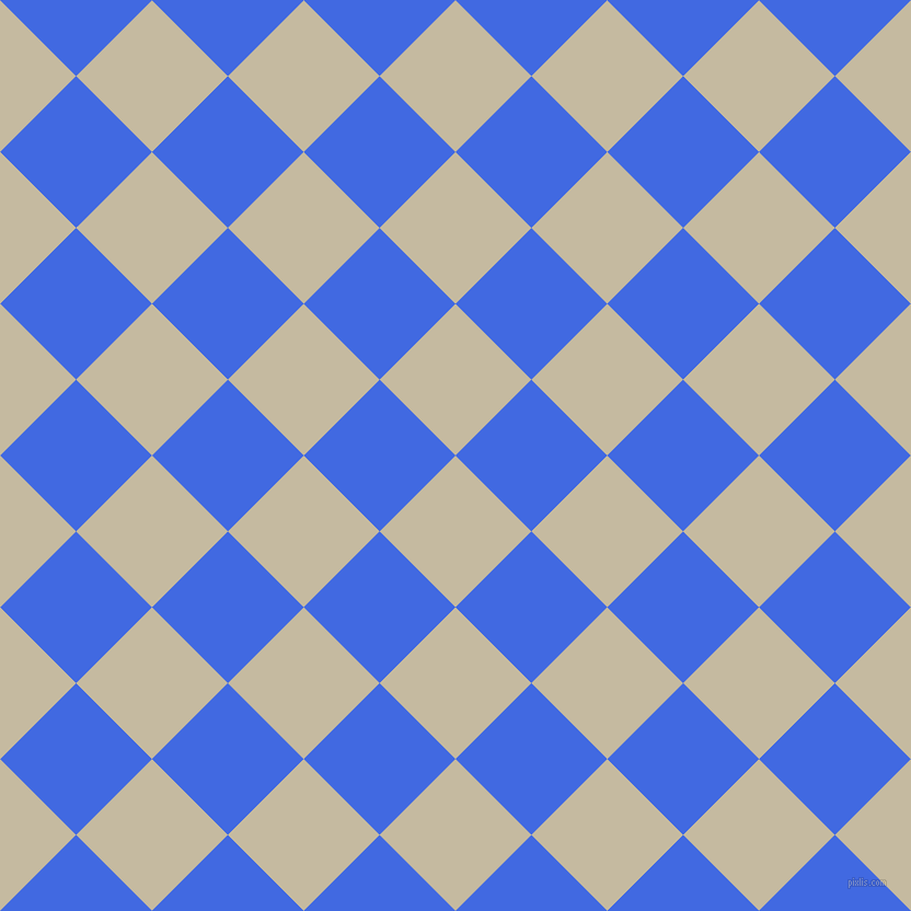 45/135 degree angle diagonal checkered chequered squares checker pattern checkers background, 98 pixel square size, , Sisal and Royal Blue checkers chequered checkered squares seamless tileable