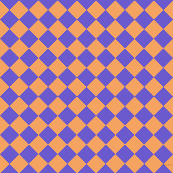 45/135 degree angle diagonal checkered chequered squares checker pattern checkers background, 47 pixel squares size, , Slate Blue and Sandy Brown checkers chequered checkered squares seamless tileable