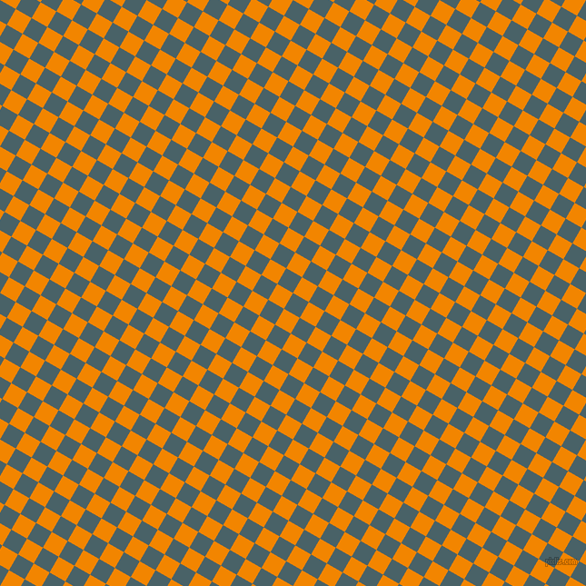 60/150 degree angle diagonal checkered chequered squares checker pattern checkers background, 20 pixel squares size, , Smalt Blue and Tangerine checkers chequered checkered squares seamless tileable