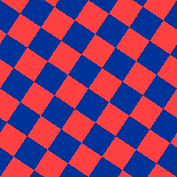 56/146 degree angle diagonal checkered chequered squares checker pattern checkers background, 80 pixel square size, , Smalt and Coral Red checkers chequered checkered squares seamless tileable