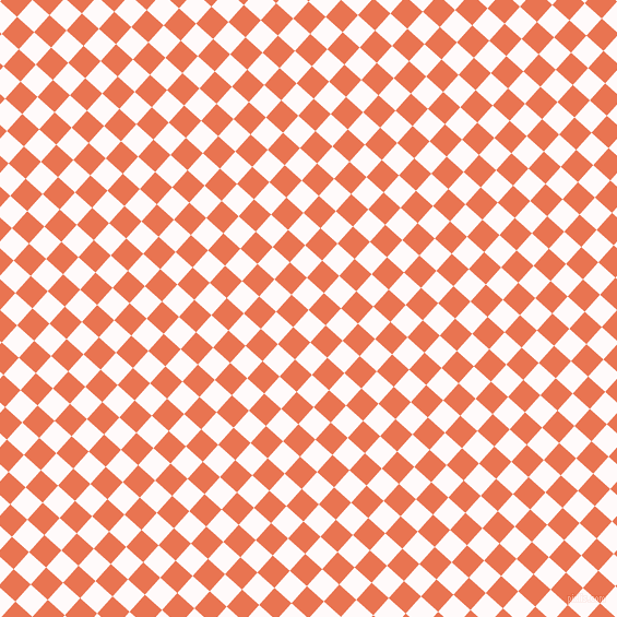 48/138 degree angle diagonal checkered chequered squares checker pattern checkers background, 21 pixel squares size, , Snow and Burnt Sienna checkers chequered checkered squares seamless tileable