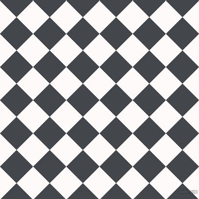 45/135 degree angle diagonal checkered chequered squares checker pattern checkers background, 48 pixel squares size, , Snow and Steel Grey checkers chequered checkered squares seamless tileable