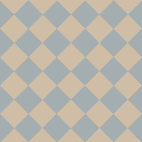 45/135 degree angle diagonal checkered chequered squares checker pattern checkers background, 85 pixel squares size, , Soft Amber and Gull Grey checkers chequered checkered squares seamless tileable