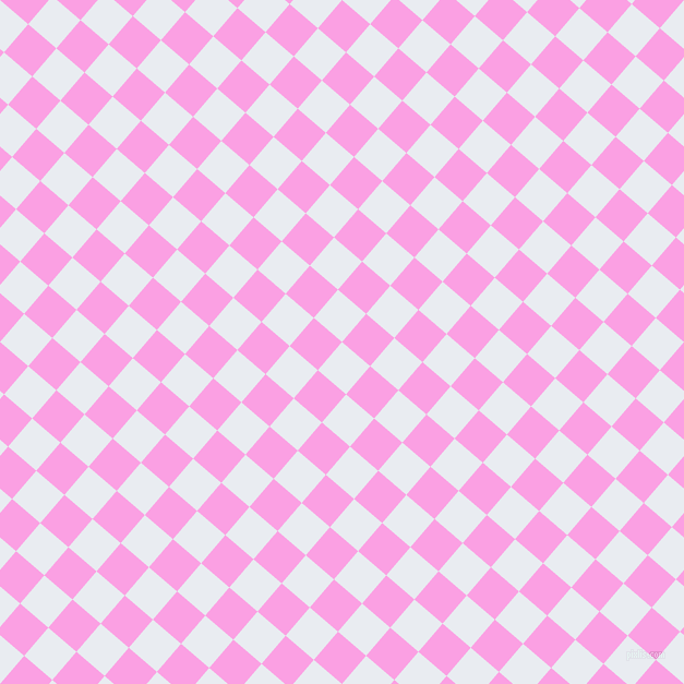 49/139 degree angle diagonal checkered chequered squares checker pattern checkers background, 34 pixel square size, , Solitude and Lavender Rose checkers chequered checkered squares seamless tileable