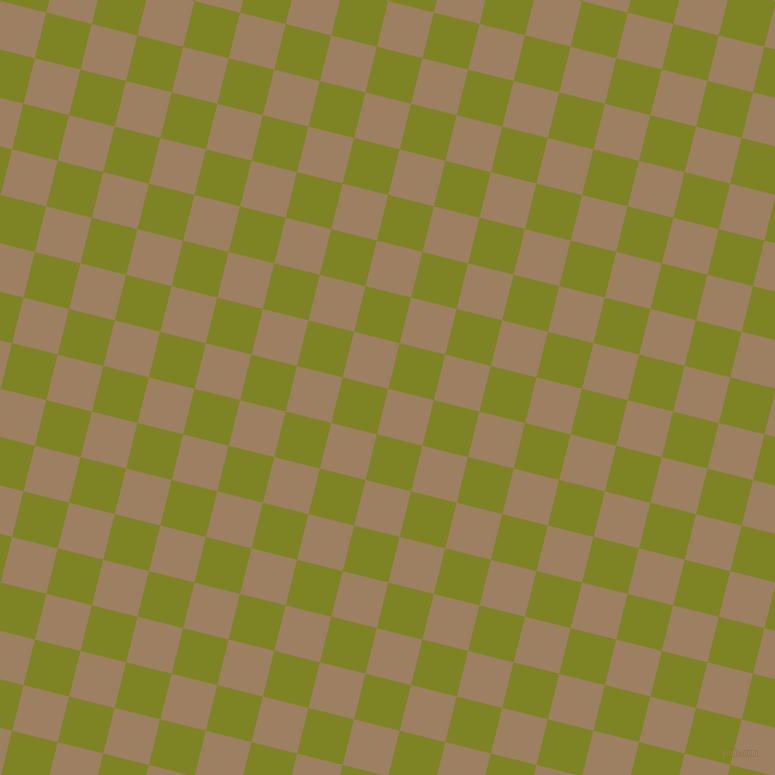 76/166 degree angle diagonal checkered chequered squares checker pattern checkers background, 47 pixel squares size, , Sorrell Brown and Trendy Green checkers chequered checkered squares seamless tileable