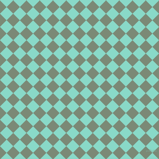 45/135 degree angle diagonal checkered chequered squares checker pattern checkers background, 30 pixel squares size, , Spanish Green and Riptide checkers chequered checkered squares seamless tileable