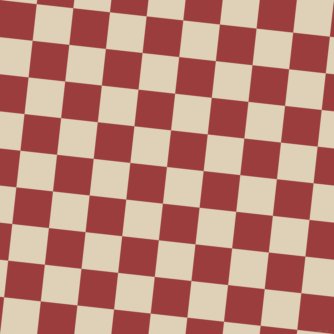 84/174 degree angle diagonal checkered chequered squares checker pattern checkers background, 118 pixel square size, , Spanish White and Mexican Red checkers chequered checkered squares seamless tileable