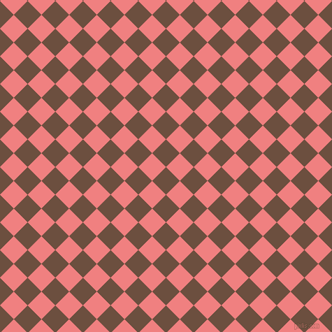 45/135 degree angle diagonal checkered chequered squares checker pattern checkers background, 28 pixel squares size, , Spice and Light Coral checkers chequered checkered squares seamless tileable