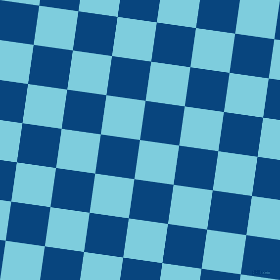 82/172 degree angle diagonal checkered chequered squares checker pattern checkers background, 80 pixel squares size, , Spray and Dark Cerulean checkers chequered checkered squares seamless tileable