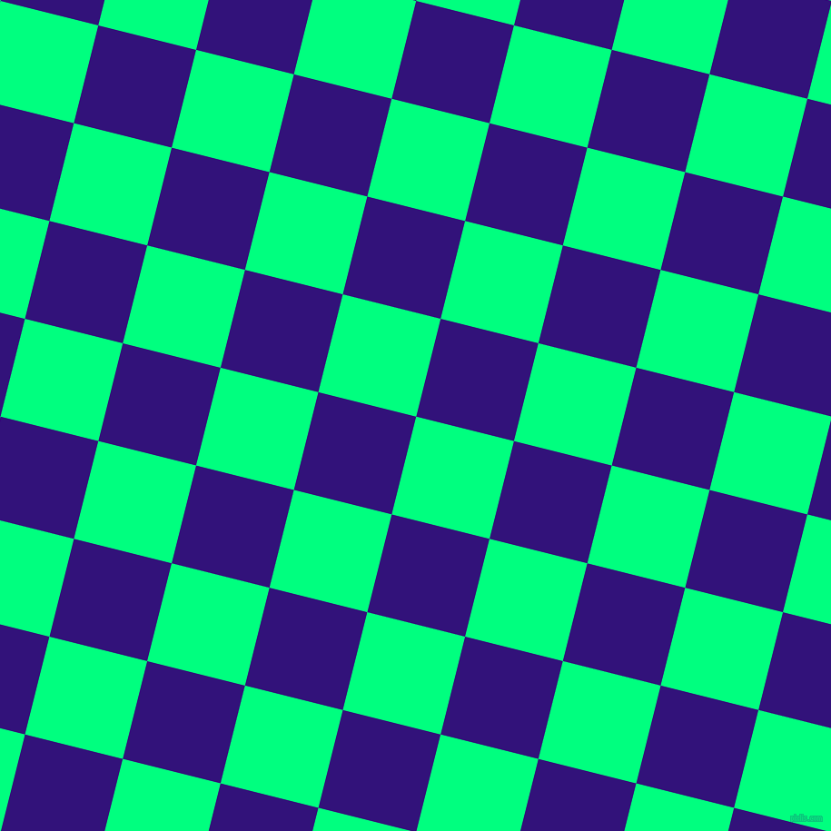 76/166 degree angle diagonal checkered chequered squares checker pattern checkers background, 111 pixel squares size, , Spring Green and Persian Indigo checkers chequered checkered squares seamless tileable