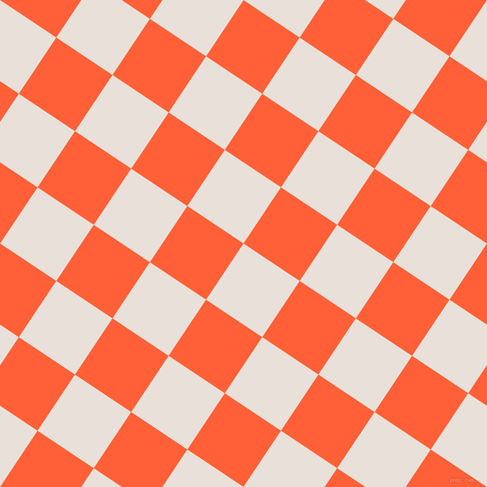 56/146 degree angle diagonal checkered chequered squares checker pattern checkers background, 98 pixel squares size, , Spring Wood and Outrageous Orange checkers chequered checkered squares seamless tileable