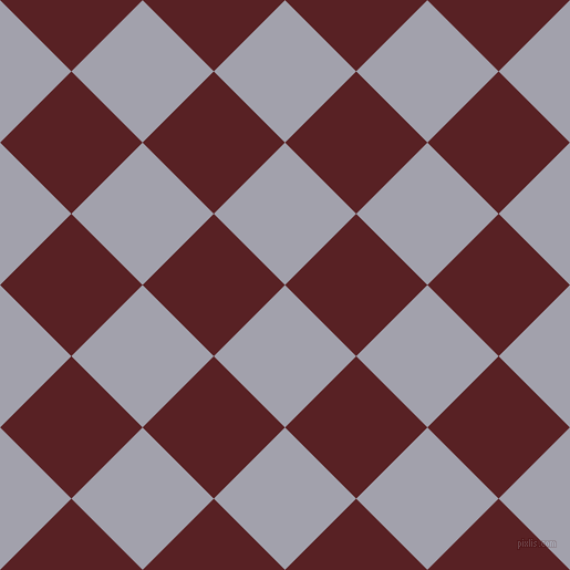 45/135 degree angle diagonal checkered chequered squares checker pattern checkers background, 91 pixel square size, , Spun Pearl and Burnt Crimson checkers chequered checkered squares seamless tileable