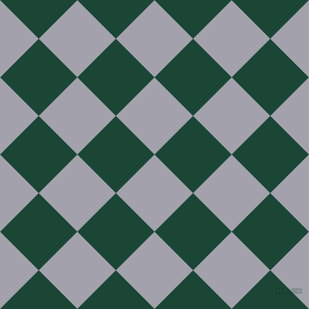45/135 degree angle diagonal checkered chequered squares checker pattern checkers background, 77 pixel squares size, , Spun Pearl and Sherwood Green checkers chequered checkered squares seamless tileable