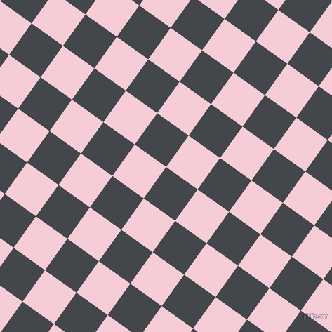 54/144 degree angle diagonal checkered chequered squares checker pattern checkers background, 55 pixel squares size, , Steel Grey and Pink Lace checkers chequered checkered squares seamless tileable