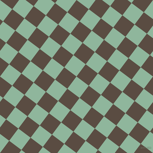 53/143 degree angle diagonal checkered chequered squares checker pattern checkers background, 52 pixel square size, , Summer Green and Cork checkers chequered checkered squares seamless tileable