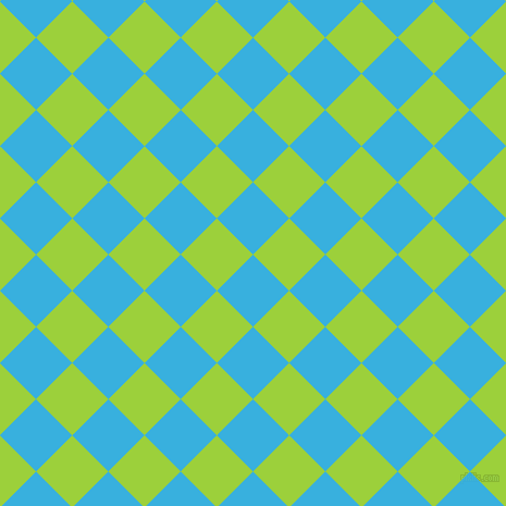 45/135 degree angle diagonal checkered chequered squares checker pattern checkers background, 47 pixel square size, , Summer Sky and Atlantis checkers chequered checkered squares seamless tileable