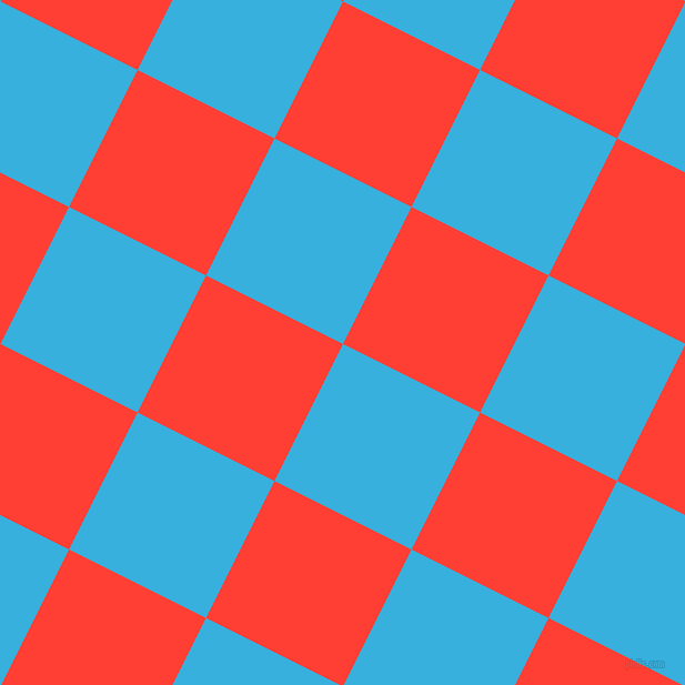 63/153 degree angle diagonal checkered chequered squares checker pattern checkers background, 138 pixel squares size, , Summer Sky and Red Orange checkers chequered checkered squares seamless tileable