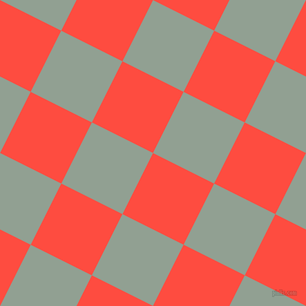 63/153 degree angle diagonal checkered chequered squares checker pattern checkers background, 99 pixel squares size, , Sunset Orange and Pewter checkers chequered checkered squares seamless tileable