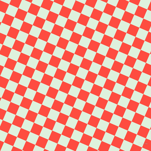67/157 degree angle diagonal checkered chequered squares checker pattern checkers background, 35 pixel square size, , Sunset Orange and Tara checkers chequered checkered squares seamless tileable