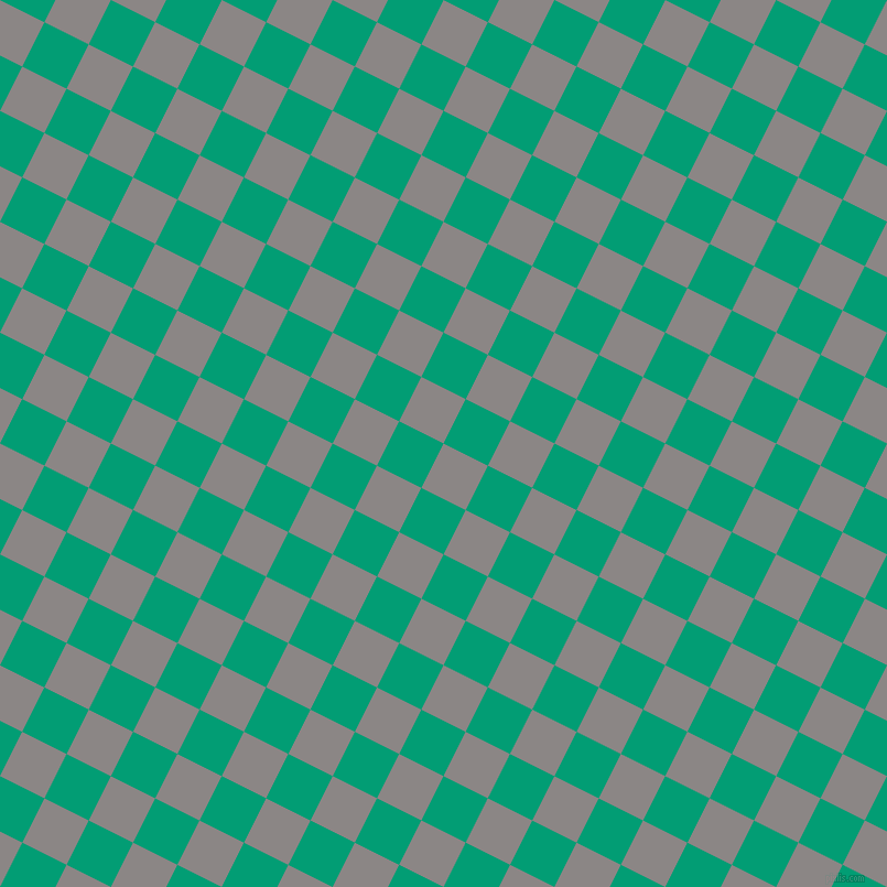 63/153 degree angle diagonal checkered chequered squares checker pattern checkers background, 45 pixel squares size, , Suva Grey and Free Speech Aquamarine checkers chequered checkered squares seamless tileable