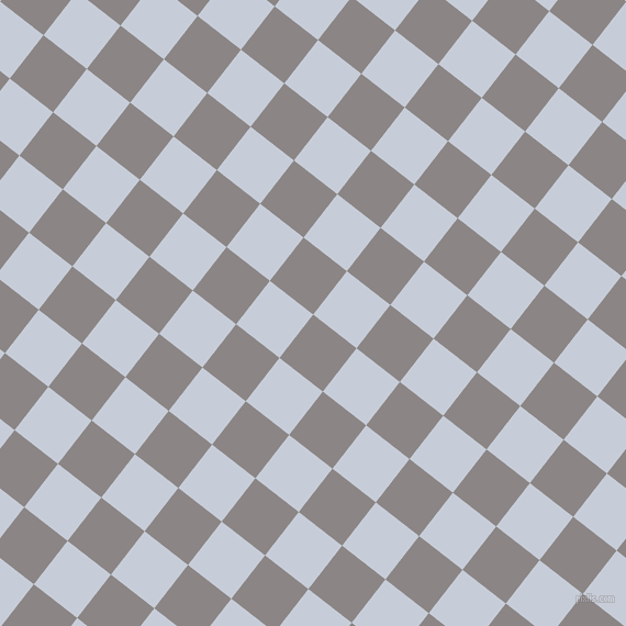 52/142 degree angle diagonal checkered chequered squares checker pattern checkers background, 50 pixel squares size, , Suva Grey and Link Water checkers chequered checkered squares seamless tileable