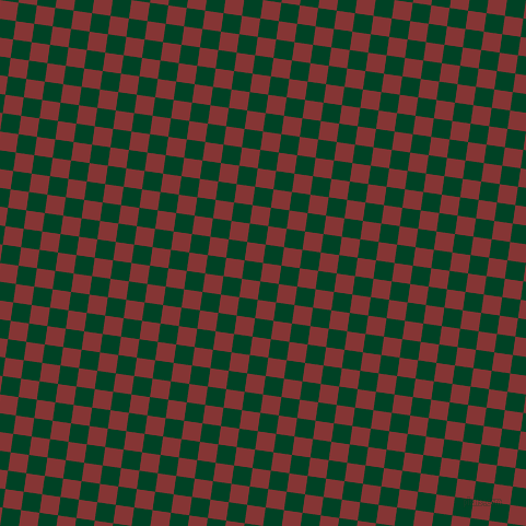 82/172 degree angle diagonal checkered chequered squares checker pattern checkers background, 17 pixel square size, , Tall Poppy and British Racing Green checkers chequered checkered squares seamless tileable