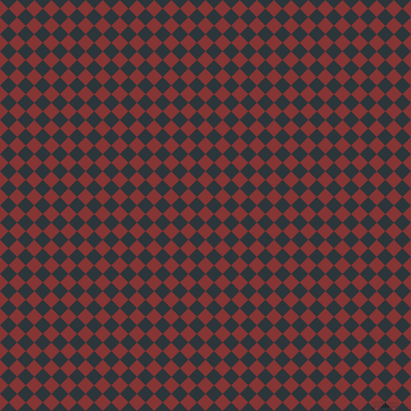 45/135 degree angle diagonal checkered chequered squares checker pattern checkers background, 17 pixel squares size, , Tall Poppy and Gunmetal checkers chequered checkered squares seamless tileable