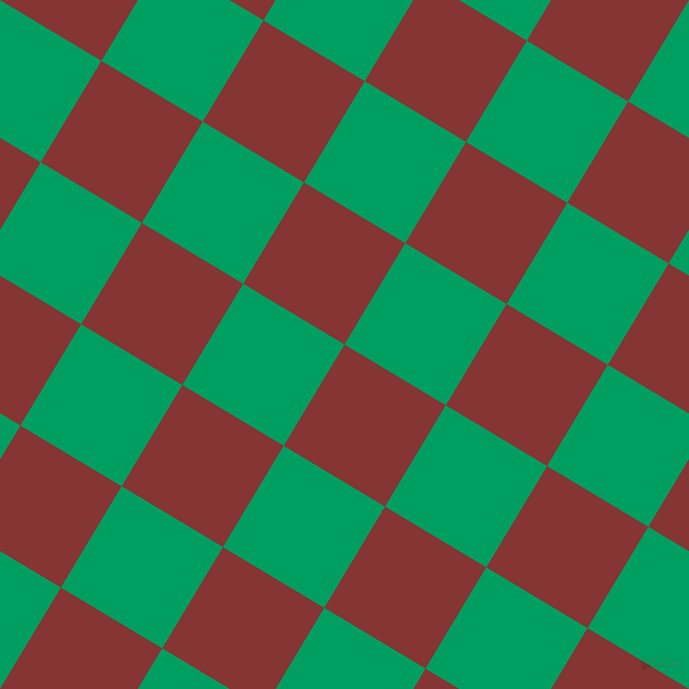 59/149 degree angle diagonal checkered chequered squares checker pattern checkers background, 108 pixel squares size, , Tall Poppy and Shamrock Green checkers chequered checkered squares seamless tileable