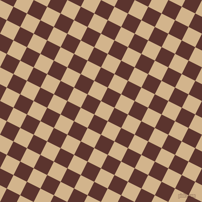 63/153 degree angle diagonal checkered chequered squares checker pattern checkers background, 31 pixel squares size, Tan and Redwood checkers chequered checkered squares seamless tileable