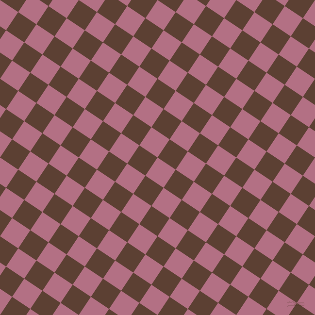 56/146 degree angle diagonal checkered chequered squares checker pattern checkers background, 45 pixel square size, , Tapestry and Very Dark Brown checkers chequered checkered squares seamless tileable