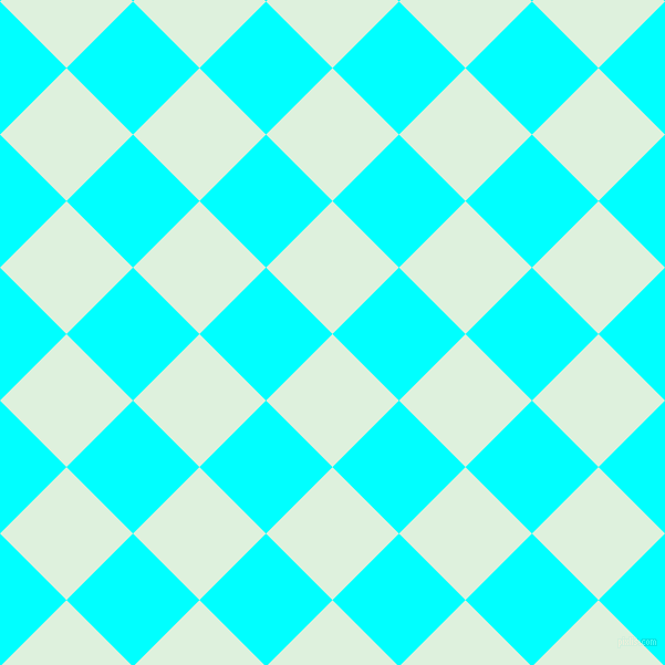 45/135 degree angle diagonal checkered chequered squares checker pattern checkers background, 85 pixel square size, , Tara and Aqua checkers chequered checkered squares seamless tileable