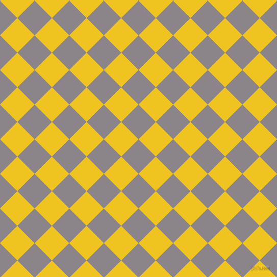 45/135 degree angle diagonal checkered chequered squares checker pattern checkers background, 48 pixel squares size, , Taupe Grey and Moon Yellow checkers chequered checkered squares seamless tileable