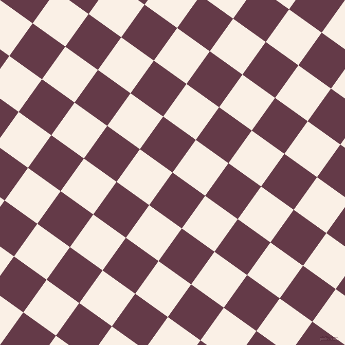54/144 degree angle diagonal checkered chequered squares checker pattern checkers background, 78 pixel square size, , Tawny Port and Linen checkers chequered checkered squares seamless tileable