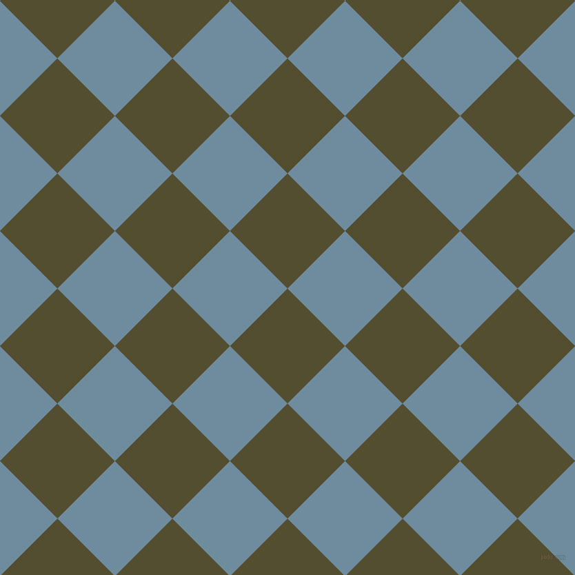 45/135 degree angle diagonal checkered chequered squares checker pattern checkers background, 118 pixel squares size, , Thatch Green and Bermuda Grey checkers chequered checkered squares seamless tileable