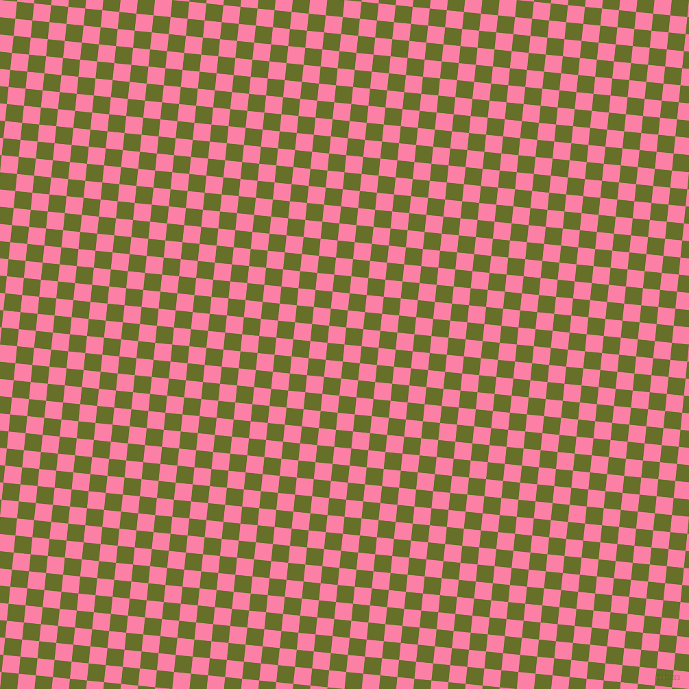 84/174 degree angle diagonal checkered chequered squares checker pattern checkers background, 25 pixel square size, , Tickle Me Pink and Rain Forest checkers chequered checkered squares seamless tileable
