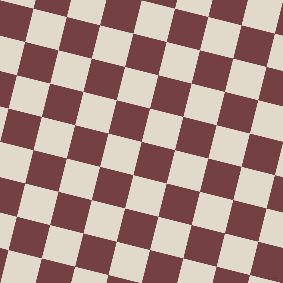 76/166 degree angle diagonal checkered chequered squares checker pattern checkers background, 114 pixel square size, , Tosca and Albescent White checkers chequered checkered squares seamless tileable
