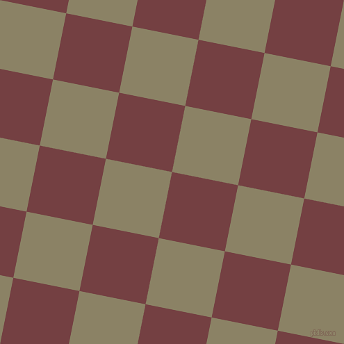79/169 degree angle diagonal checkered chequered squares checker pattern checkers background, 97 pixel square size, , Tosca and Granite Green checkers chequered checkered squares seamless tileable