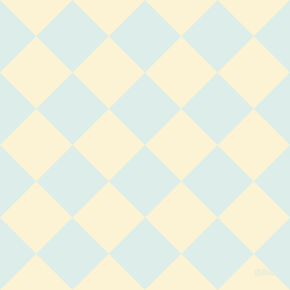 45/135 degree angle diagonal checkered chequered squares checker pattern checkers background, 73 pixel squares size, , Tranquil and China Ivory checkers chequered checkered squares seamless tileable