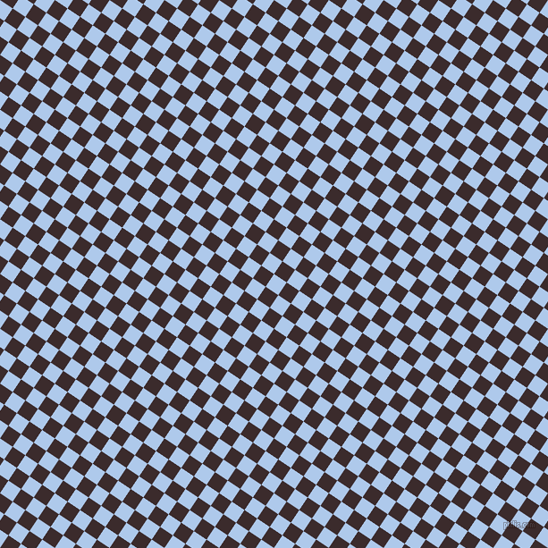 56/146 degree angle diagonal checkered chequered squares checker pattern checkers background, 17 pixel square size, , Tropical Blue and Havana checkers chequered checkered squares seamless tileable