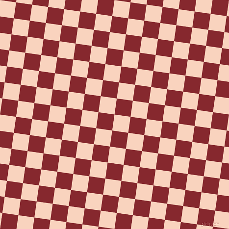 82/172 degree angle diagonal checkered chequered squares checker pattern checkers background, 33 pixel square size, , Tuft Bush and Flame Red checkers chequered checkered squares seamless tileable