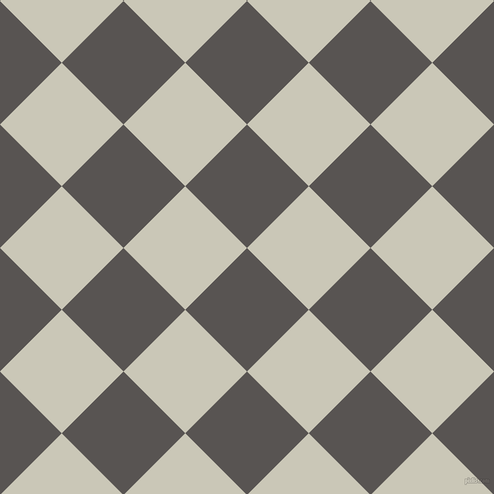 45/135 degree angle diagonal checkered chequered squares checker pattern checkers background, 125 pixel square size, , Tundora and Chrome White checkers chequered checkered squares seamless tileable
