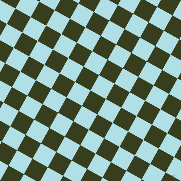 61/151 degree angle diagonal checkered chequered squares checker pattern checkers background, 57 pixel square size, , Turtle Green and Powder Blue checkers chequered checkered squares seamless tileable
